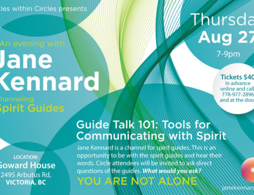 Join us in Victoria for an evening with Jane Kennard and the spirit guides August 27