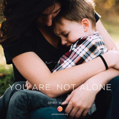 jane-kennard-spirit-wisdom-you-are-not-alone-mother-and-son-unsplash-jordan-whitt-145327