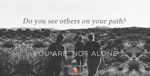 Do you see others on your path? Jane Kennard Spirit Wisdom, you are not alone, unsplash-photo-roya-ann-miller-185140